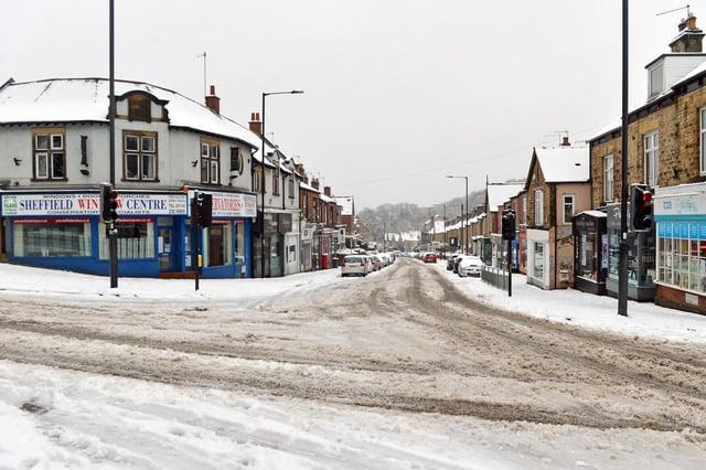 Heavy snow in Sheffield.