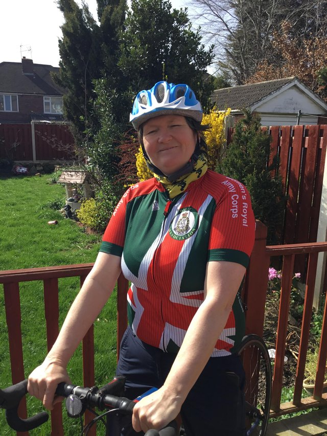 Cheryl Jones is cycling to various churches around Sheffield this Easter Sunday, to raise money for the WRAC Association.