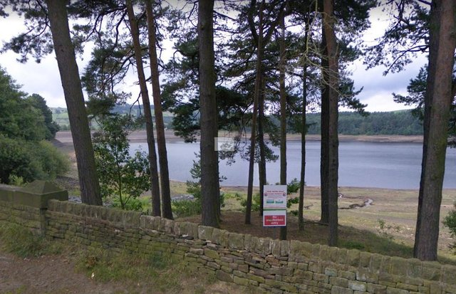 A sign warning people that bathing is prohibited at Agden Reservoir, in Sheffield (pic: Google)