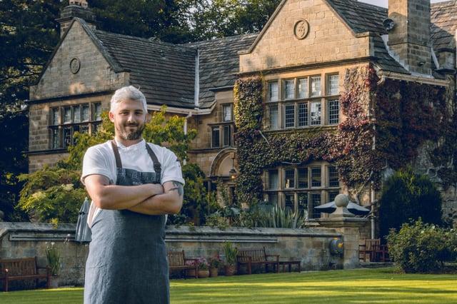Head chef Nathan Wall at Baslow Hall.