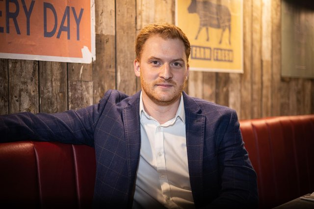 Adam Howitt, the new owner of Handmade Burger Co, which is preparing to reopen the branch at Meadowhall in Sheffield