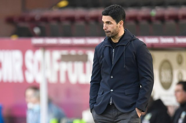 Arsenal's Spanish manager Mikel Arteta: PETER POWELL/POOL/AFP via Getty Images