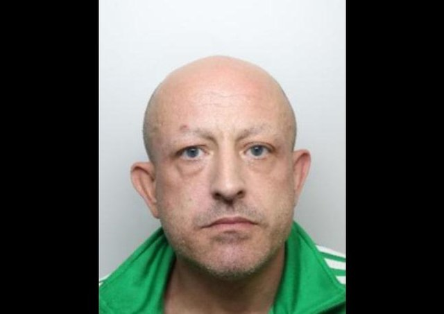 Terry Hutley, 45, formerly of Bradley Street, Sheffield, was jailed for 12 months after his DNA was traced from clothing he left at the scene of the crime.