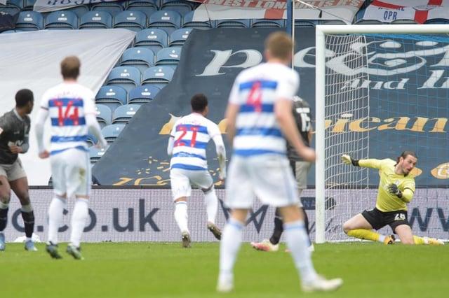 Sheffield Wednesday goalkeeper Joe Wildsmith was unable to keep out Stefan Johansen's deflected effort in the Owls' 4-1 defeat QPR.