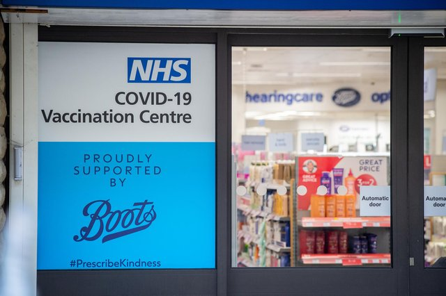 NHS Covid-19 Vaccination centre at Boots