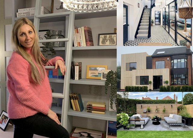 Katy Wilson's inside her Derbyshire home after the renovation.