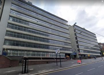 The temporary job centre at Tenter Street, Sheffield