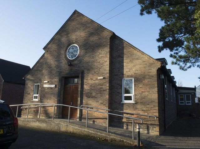 A plea for village halls to sign the online Doomsday Book, pictured Dore Village Hall