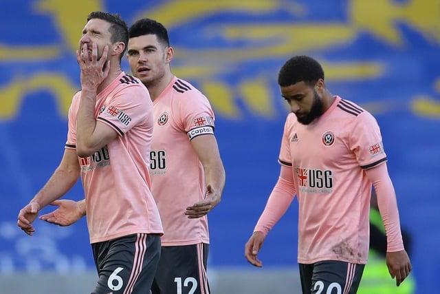 Chris Basham, John Egan and Jayden Bogle will all miss tomorrow's clash with Southampton through injury: David Klein/Sportimage