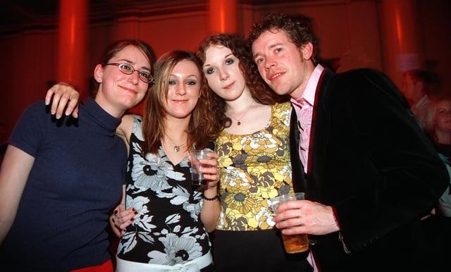 Kate, Mary, Jenna and Mark at the Brighton Beach club night in Sheffield City Hall