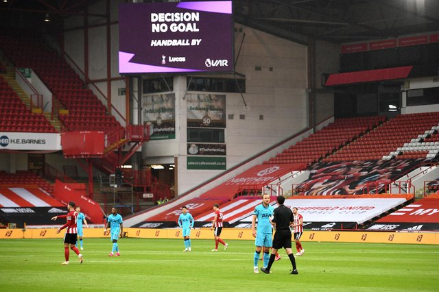 Harry Kane had a goal ruled out by VAR against Sheffield United next season (Photo by Oli Scarff/Pool via Getty Images)