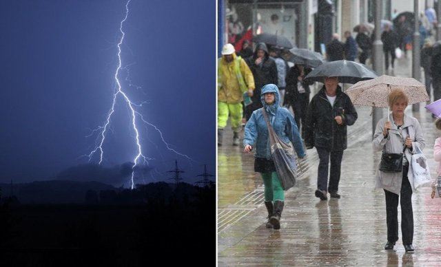 Thunderstorms are set to sweep across Sheffield from this afternoon.