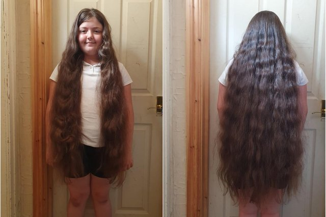 Bethany Devey is having her hair cut to raise money for Sheffield Children's Hospital. She plans to donate her locks to the Little Princess Trust, which donates wigs to children who lose their hair