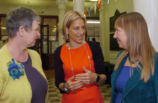 Newsnight presenter Emily Maitlis, seen here on a return trip to her old school, King Edward VII, with headteacher Bev Jackson and chair of governors Carolyn Leary, was actually born in Canada but grew up in Sheffield. She hit the headlines recently for her interview with Prince Andrew over his relationship with billionaire sex offender Jeffrey Epstein.