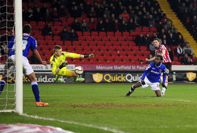 Jordan Pickford was on loan at Carlisle United when they last played at Bramall Lane. Picture by Tony Johnson