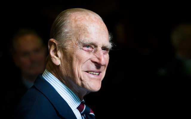 Prince Philip, Duke of Edinburgh smiles during a visit to the headquarters of the Royal Auxiliary Air Force's (RAuxAF) 603 Squadron on July 4, 2015 in Edinburgh, Scotland. (Photo by Danny Lawson - WPA Pool/Getty Images)