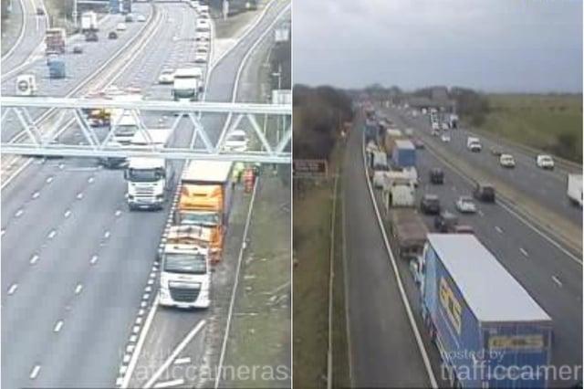 Crash on M1 - Credit: Traffic Cameras