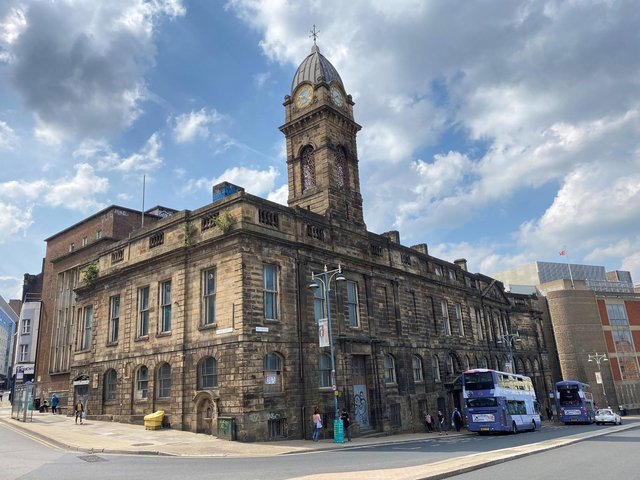 The Old Town Hall was being restored but is back on the market.