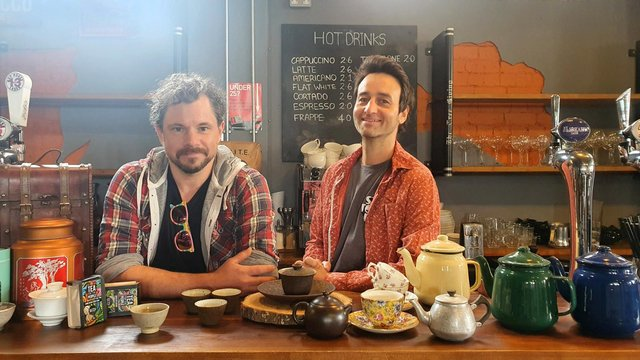 Marc Riley and his business partner Owen Terry of Sheffield's Batch Tea Co