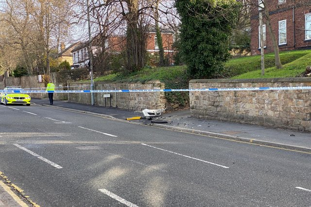 A man who crashed into traffic lights in Burngreave, Sheffield, earlier this week has lost his fight for life