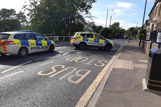 A boy, aged 16, was seriously injured in a collision with a car on Manchester Road, Crosspool, yesterday