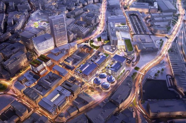 Aerial View Of Overall Campus Vision (Image Sheffield Hallam University)