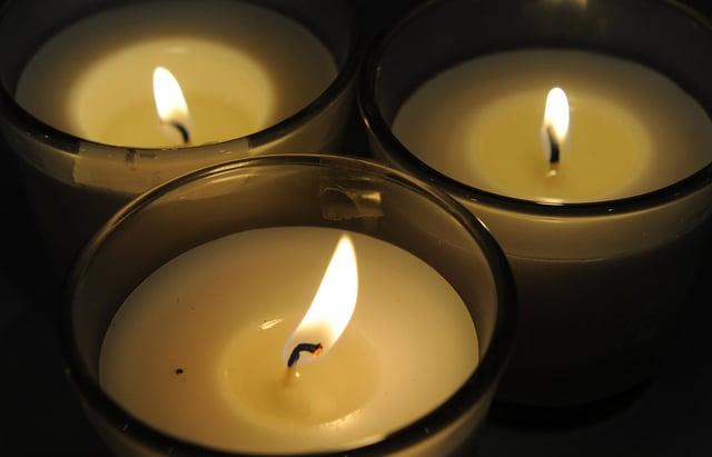 Candles at a previous Holocaust Memorial Day vigil at the Winter Garden