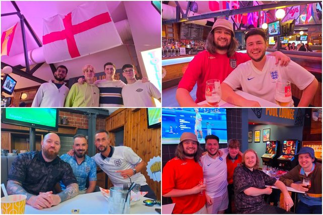 """England fans in Sheffield's sports bars are anxiously waiting if tonight's match will be """"the one"""" to take them to the Wembley final."""