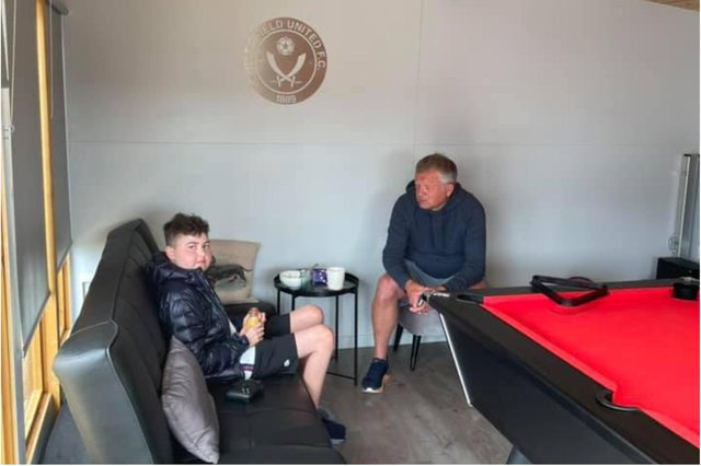 Former Sheffield United manager Chris Wilder visited Harrison in his man cave