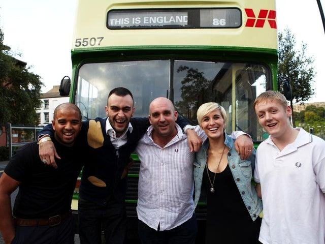Shane Meadows, pictured here with the cast of This Is England, is looking for young people to appear in his new period drama, The Gallows Pole