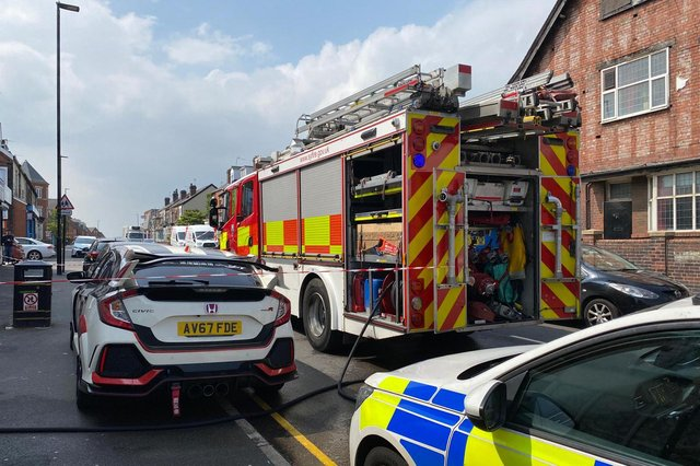 Fire engines on Staniforth Road