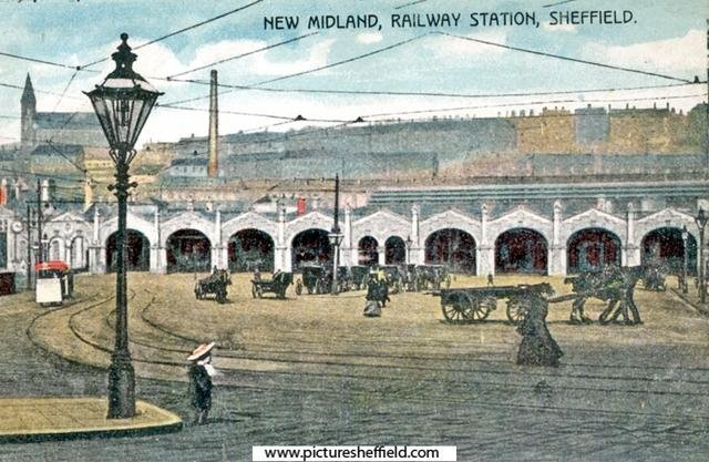 Midland Station Extension 1900 with its new frontage
