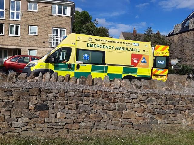 Ambulance on Manchester Road