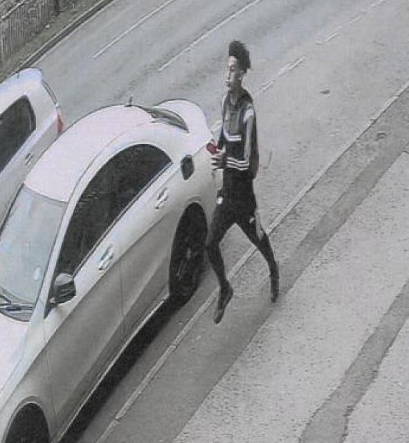 Police investigating an attempted knife-point robbery in Sheffield want to speak to the man pictured