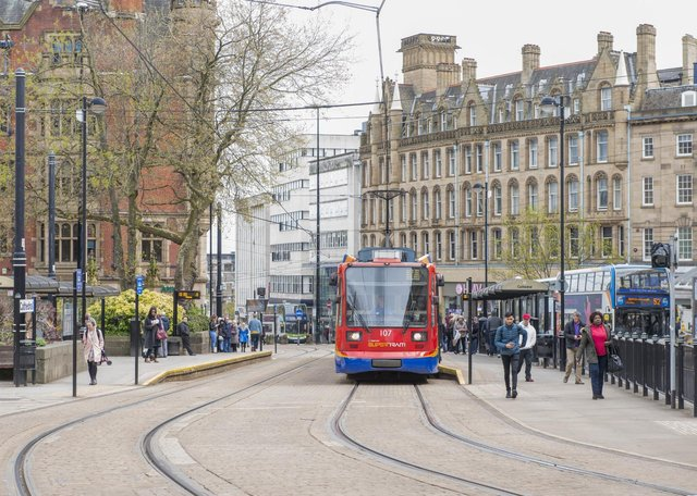 Sheffield Stock Cathedral Tram Stop