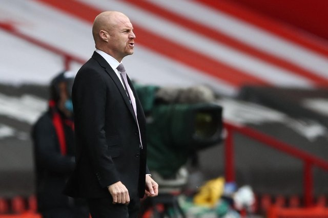 Burnley's English manager Sean Dyche  (Photo by TIM GOODE/POOL/AFP via Getty Images)