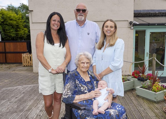 Five generations of the Ibbotson family. Brenda  Ibbotson,Neil Ibbotson, Louise Hegarty, Amy Littler and Joshua Cooper. Picture Scott Merrylees
