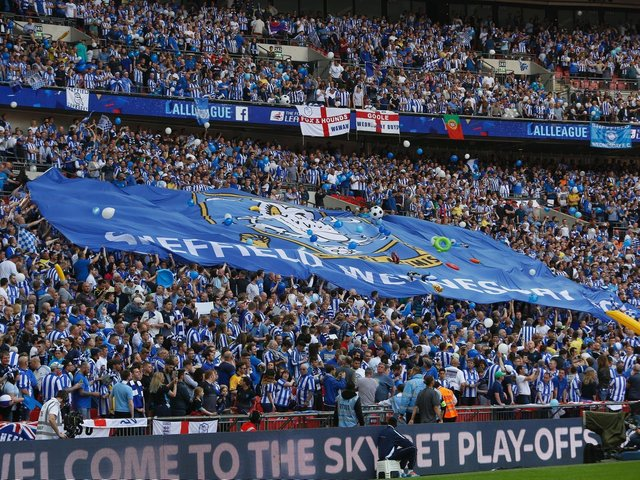 Sheffield Wednesday fans helped to produce an incredible atmosphere at Wembley on Saturday