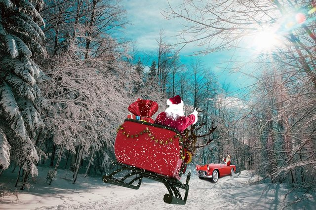 Santa may be whizzing around the world in one night, but he spends a lot of time sitting in one position in his sleigh, which is not good for his body, says physiotherapist Ian Andrews