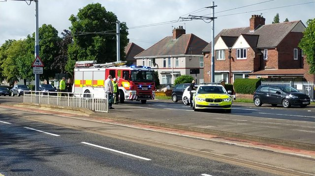 Emergency services attentding the RTC