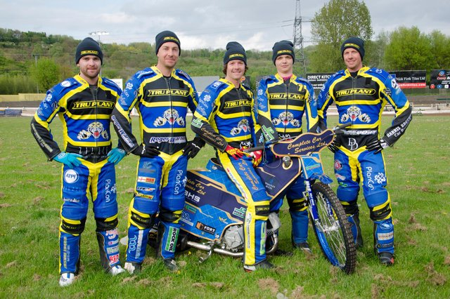 The Sheffield Tigers team from left to right: Justin Sedgmen, Troy Batchelor, Kyle Howarth, Josh bates, James Wright.