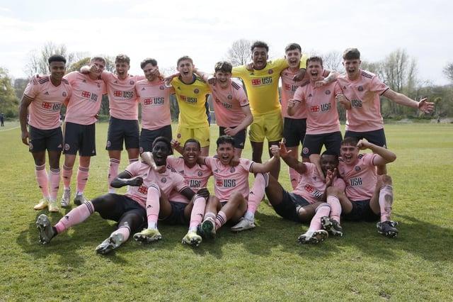 Sheffield United's U23s celebrate winning their title at Millwall: David Klein/Sportimage