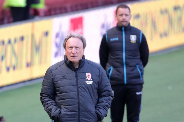 Middlesbrough manager Neil Warnock would not like to see both major Sheffield clubs relegated in the same season. (Richard Sellers/PA Wire)