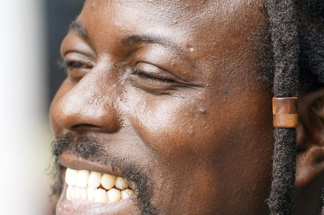 Sheffield musician Sinini Ngewana (The Reggae Busker) Picture Scott Merrylees