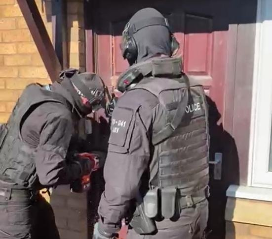 A house raid at Manor Oak gardens where an 18 year old man from Sheffield was arrested on suspicion of supplying class A drugs