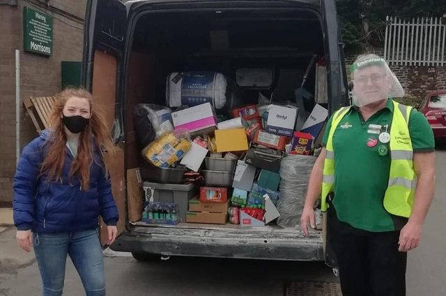 The Broomhill branch of Supermarket chain Morrisons made a very special delivery to South Yorkshire youth homelessness charity Roundabout