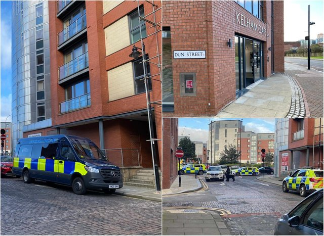 Police activity is under way in Kelham Island, Sheffield this morning