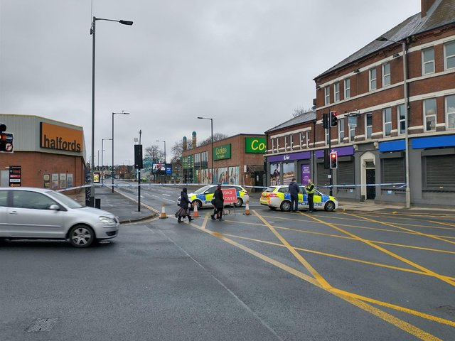 A man was seriously injured in a fight on Queens Road in Sheffield (Photo: Robert Cumber)