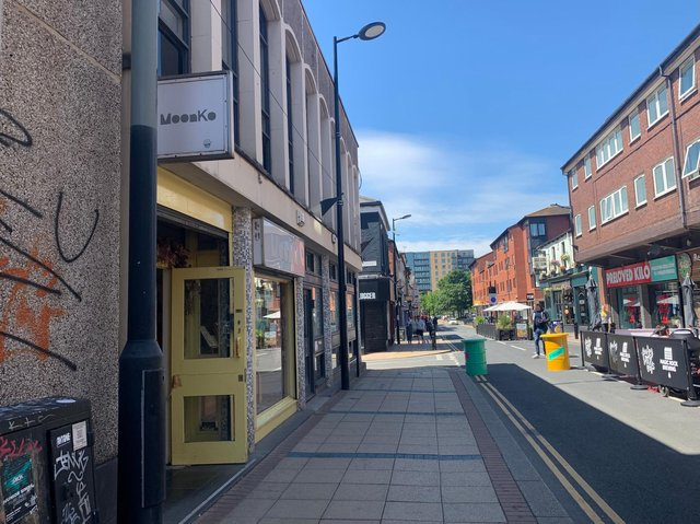 MoonKo is based on Division Street in the city centre, which has recently been pedestrianised