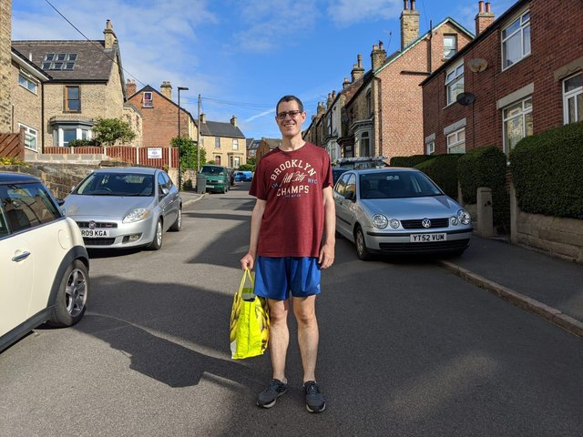 Chair of The Suit Works, Alex Swallow is walking 21km around Sheffield to raise money for his charity.